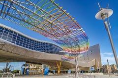 Centro da exposição, do congresso e das feiras de comércio em Malaga, Espanha Foto de Stock Royalty Free