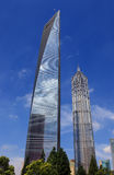 Centro da finança do mundo de Shanghai Imagens de Stock Royalty Free