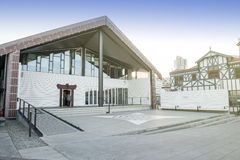 Centro da função de Wharewaka na margem de Wellington, Nova Zelândia Imagem de Stock Royalty Free