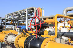 Centro da refinaria em Sibéria ocidental Fotografia de Stock