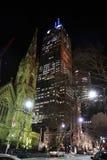 Centro da rua de BlueScope e St Michaels Uniting Church em Melbourne Fotografia de Stock