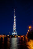 Centro da transmissão de St Petersburg da torre da tevê (Leninegrado) Fotografia de Stock