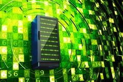 Centro dati, server di rete, Internet che ospita e concetto di tecnologie informatiche Fotografia Stock