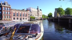 Centro de Amsterdam, Países Bajos almacen de video