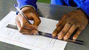 Centro de aprendizado vocacional de habilidades em África foto de stock