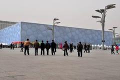 Centro de Aquatics de nacional de Pekín Fotos de archivo