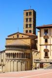 Centro de Arezzo imagens de stock