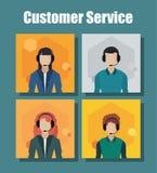 Centro de atención telefónica del servicio de atención al cliente stock de ilustración