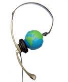 Centro de atención telefónica global Foto de archivo libre de regalías