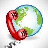 Centro de atención telefónica internacional de la atención al cliente Imagen de archivo