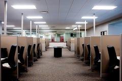 Centro de atención telefónica vacío foto de archivo