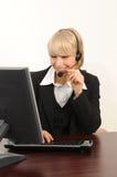 Centro de atención telefónica Imagen de archivo libre de regalías
