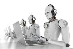 Centro de atendimento dos robôs Imagem de Stock Royalty Free