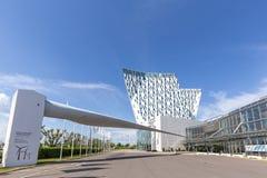 Centro de Bella Sky Hotel e de congresso em Copenhaga Fotografia de Stock Royalty Free