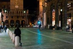 Centro de Bolonia en la noche Fotografía de archivo libre de regalías
