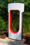 Centro de carga híbrido del coche eléctrico Fotografía de archivo libre de regalías