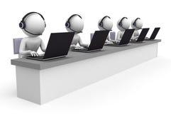Centro de chamadas Imagem de Stock