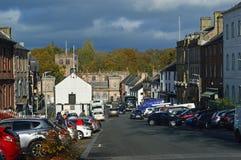 Centro de cidade Appleby--Westmorland em uma cidade cumbrian tradicional Reino Unido do mercado imagens de stock