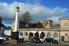 Centro de cidade Appleby--Westmorland em uma cidade cumbrian tradicional Reino Unido do mercado fotografia de stock