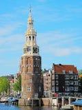 Centro de cidade de Amsterdão Imagens de Stock