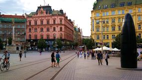 Centro de cidade de Brno Imagem de Stock Royalty Free