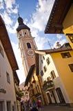 Centro de cidade de Castelrotto Fotografia de Stock