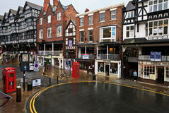 Centro de cidade de Chester Fotos de Stock