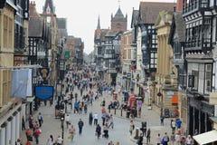 Centro de cidade de Chester Fotos de Stock Royalty Free
