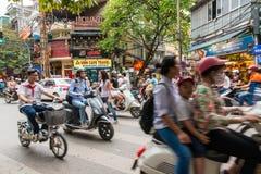 Centro de cidade de Hanoi fotos de stock royalty free