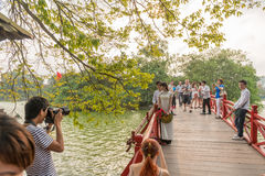 Centro de cidade de Hanoi imagem de stock royalty free