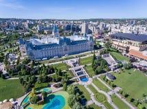 Centro de cidade de Iasi, Moldova, Romênia fotos de stock royalty free