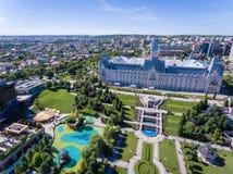 Centro de cidade de Iasi, Moldova, Romênia fotografia de stock royalty free