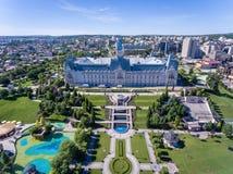 Centro de cidade de Iasi, Moldova, Romênia imagem de stock royalty free