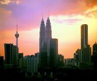 Centro de cidade de Kuala Lumpur Foto de Stock Royalty Free