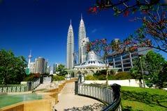Centro de cidade de Kuala Lumpur Fotos de Stock Royalty Free