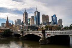 Centro de cidade de Melbourne Imagens de Stock Royalty Free