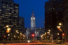 Centro de cidade de Philadelphfia Fotografia de Stock Royalty Free
