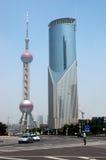 Centro de cidade de Shanghai Imagem de Stock Royalty Free
