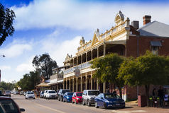 Centro de cidade de Toodyay, Austrália Ocidental Fotos de Stock Royalty Free