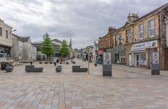 Centro de cidade Escócia de Kilwinning imagem de stock royalty free