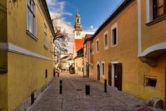 Centro de cidade histórico Moedling, Baixa ?ustria, Europa fotografia de stock