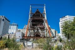 Centro de ciudad de Christchurch, catedral arruinada después del terremoto foto de archivo libre de regalías