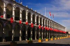 Centro de ciudad de Arequipa Perú Foto de archivo libre de regalías