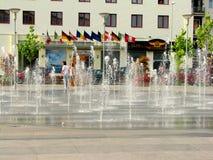 Centro de ciudad de Bacau foto de archivo libre de regalías