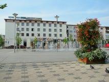 Centro de ciudad de Bacau Imagen de archivo libre de regalías