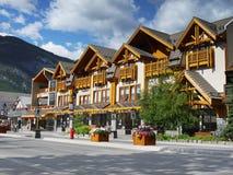 Centro de ciudad de Banff Foto de archivo libre de regalías