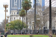 Centro de ciudad de Buenos Aires, la Argentina Foto de archivo