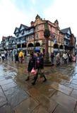 Centro de ciudad de Chester en mediodía ocupado Fotografía de archivo