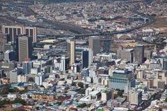 Centro de ciudad de Ciudad del Cabo viwed de punta de la señal Foto de archivo