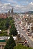 Centro de ciudad de Edimburgo Foto de archivo libre de regalías